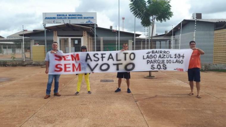Faixa manda recado aos políticos de Araguaína