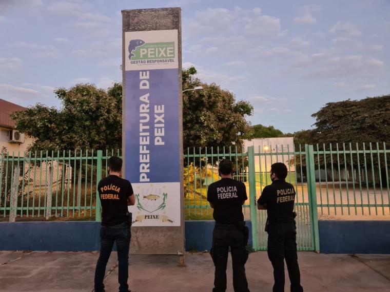 PF na Prefeitura de Peixe (TO), onde o prefeito foi afastado