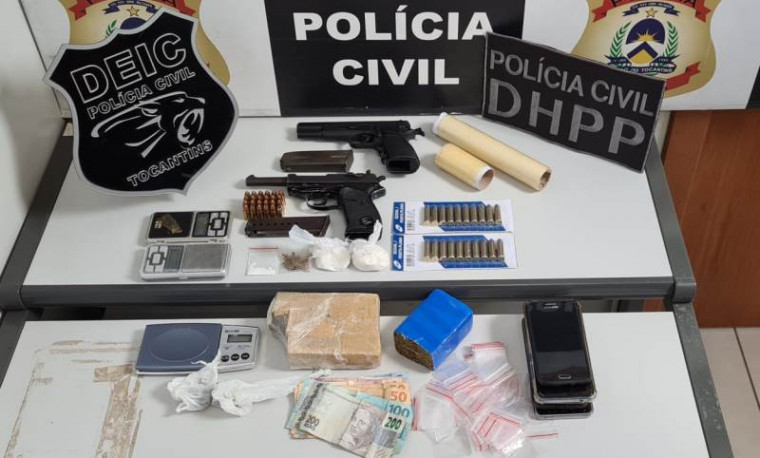 Operação apreendeu armas e drogas nas duas fases