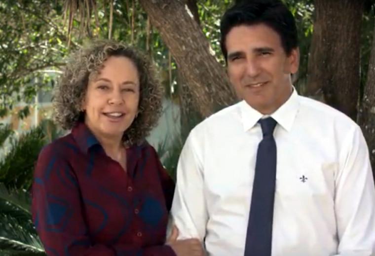 A ex-deputada federal Josi Nunes e o deputado estadual eleito Júnior Geo
