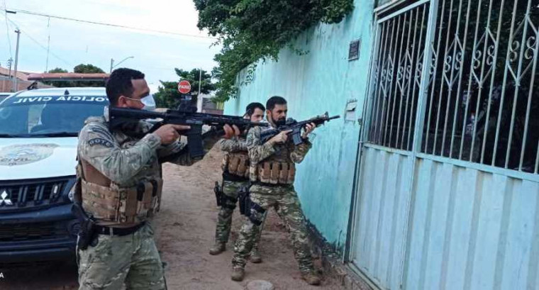 Operação foi realizada pela Polícia Civil do Tocantins em Uruaçu (GO)