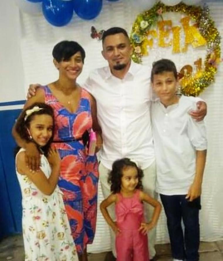 Jaqueline e sua família