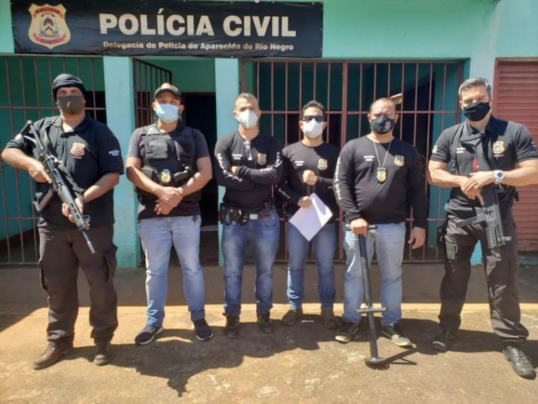 Policiais participantes da operação