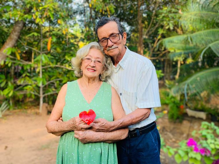 Professora e lavrador são casados há quase 60 anos