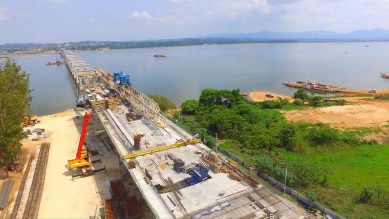 Imagem recente das obras de ponte de Xambioá