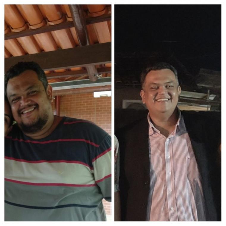 Foto da esquerda: Jan 2020. Foto da direita: Jun 2021.