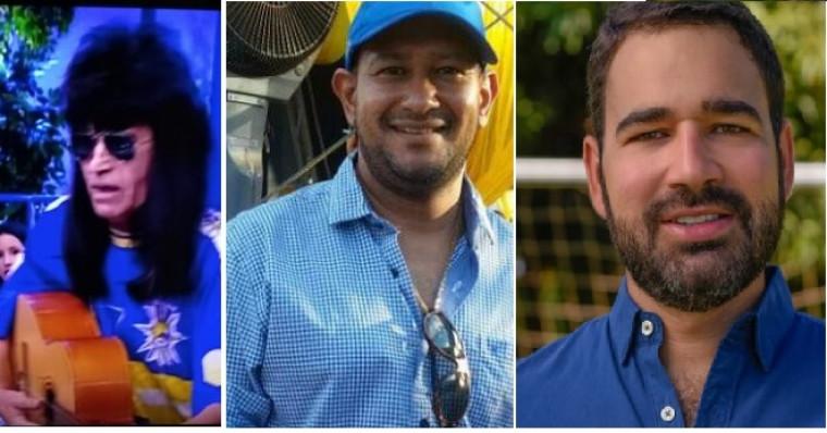 Arnaud Rodrigues, Alexandre Alves e Lucas Meira (da esq/dir)