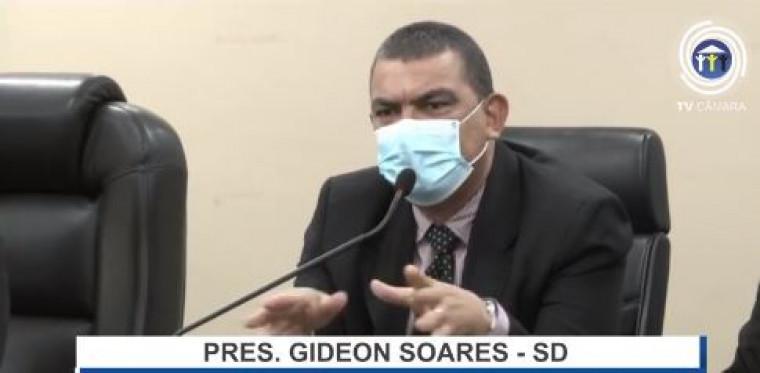 Vereador e presidente da Câmara Gideon Soares