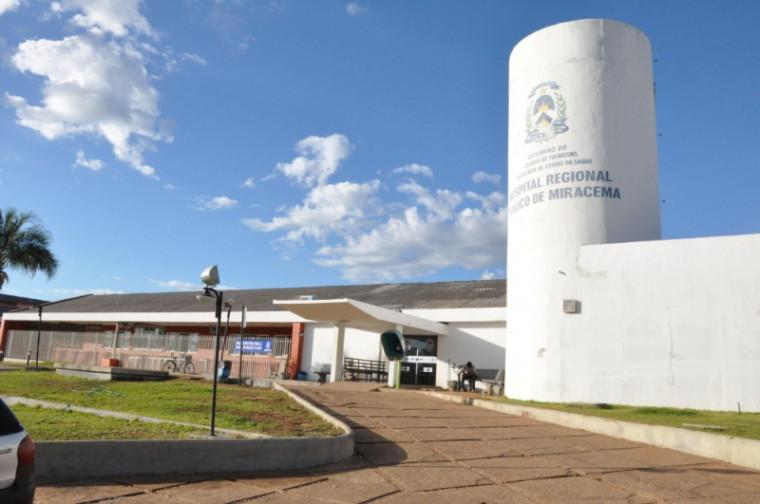 Hospital Regional de Miracema, onde secretário está lotado como enfermeiro
