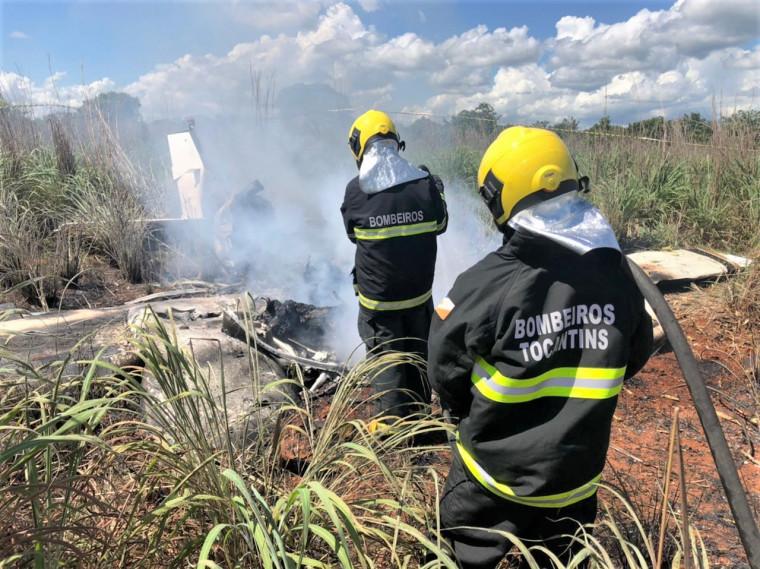 O acidente foi por volta das 8h40, em uma pista particular a cerca de 18 km de Palmas