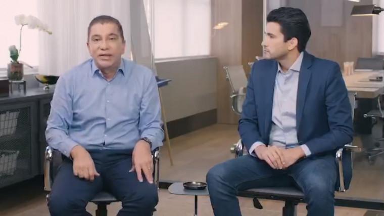 Ex-prefeito Amastha é o principal apoiador da campanha de Tiago Andrino