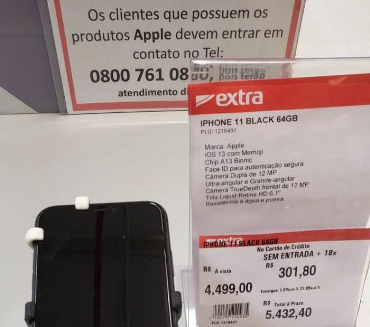 Preço anterior do iPhone 11