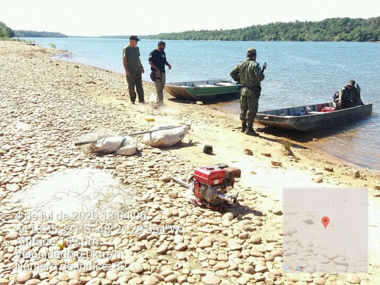 Peixes apreendidos foram doados para moradores de comunidades da região onde ocorreu a operação