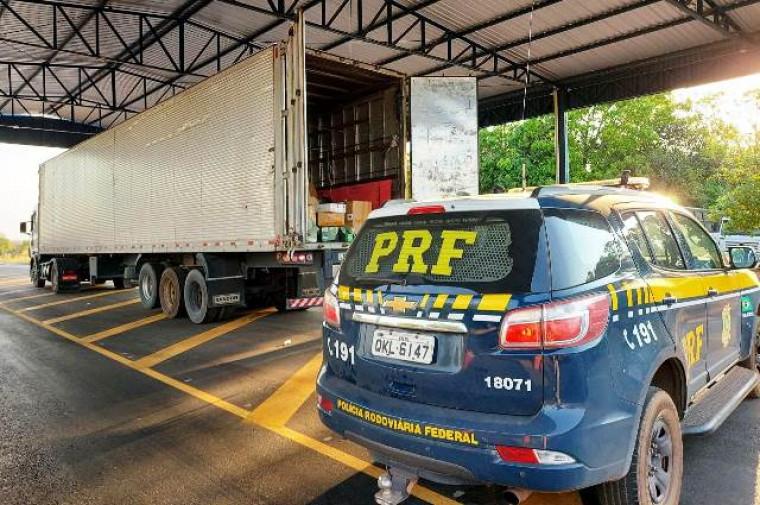 A PRF apreendeu milhares de produtos importados ilegalmente