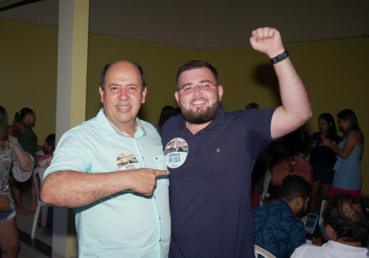 Vereador Gipão e seu filho eleito