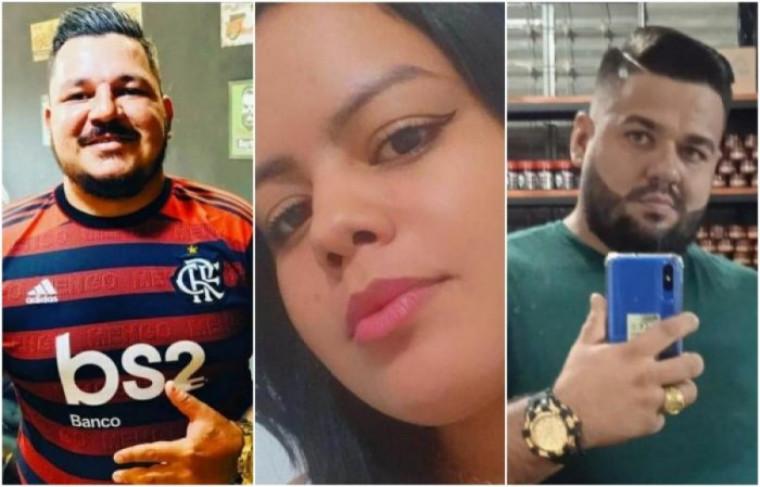 Vítimas do acidente: Charles Dias, Milena Neves e Henrique Martins