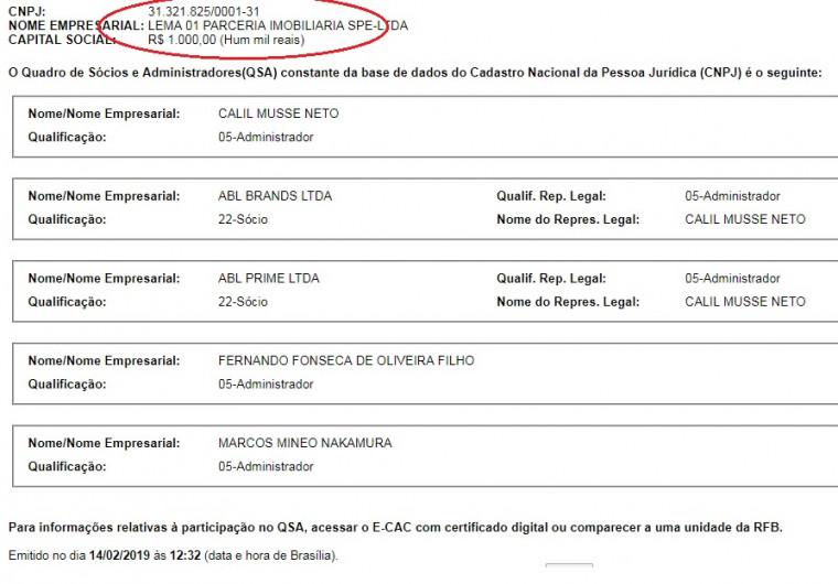 Lema 01 possui capital social de apenas mil reais