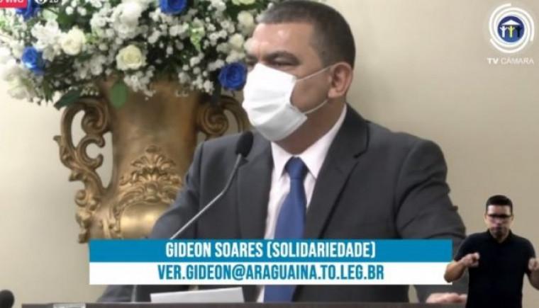 Presidente da Câmara, vereador Gideon Soares
