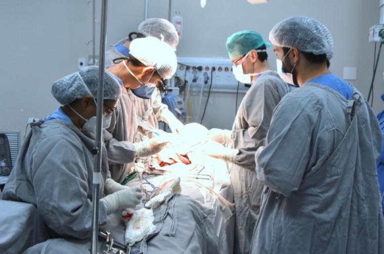 Captação de órgãos sendo feita