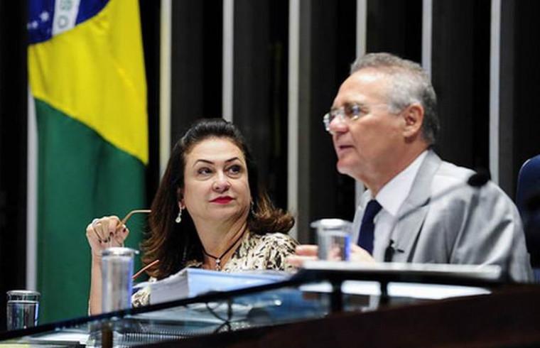 Kátia Abreu e Renan Calheiros