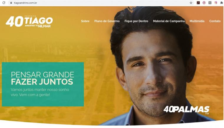 Tiago Andrino deixou de comunicar à Justiça Eleitoral a existência do site de campanha