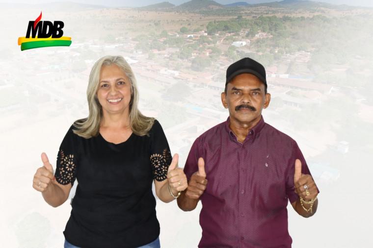 Pré-candidata a prefeita Socorro do Lopes ao lado do marido