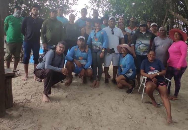 Voluntários do Naturatins, da Prefeitura de Araguacema, Colônia de Pescadores e da comunidade em geral participaram da ação
