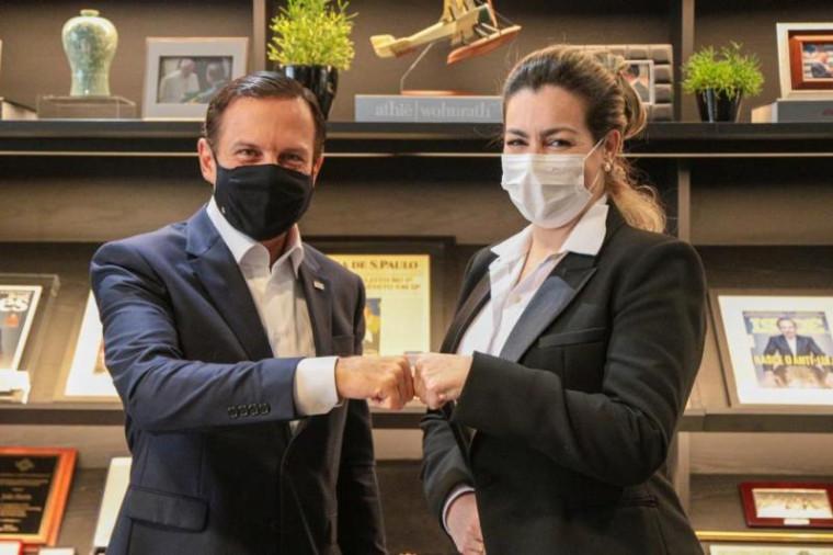 Cinthia e Dória estiveram reunidos na tarde desta quinta-feira (7), no Palácio dos Bandeirantes