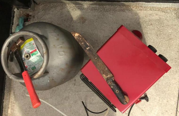 Botijão de gás recuperado