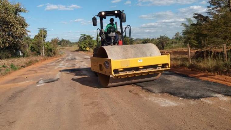 Recuperação de rodovia