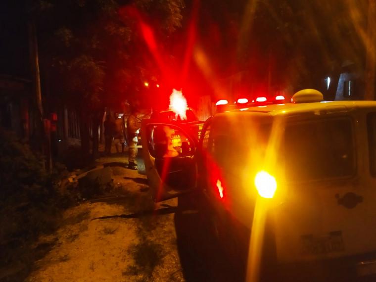 Uma ambulância foi ao local, porém a vítima estava em óbito