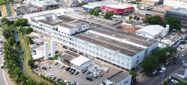 Vista aérea do Hospital Dom Orione