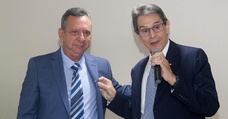 Roberto Jeferson e Antônio Andrade na época de sua filiação ao PTB
