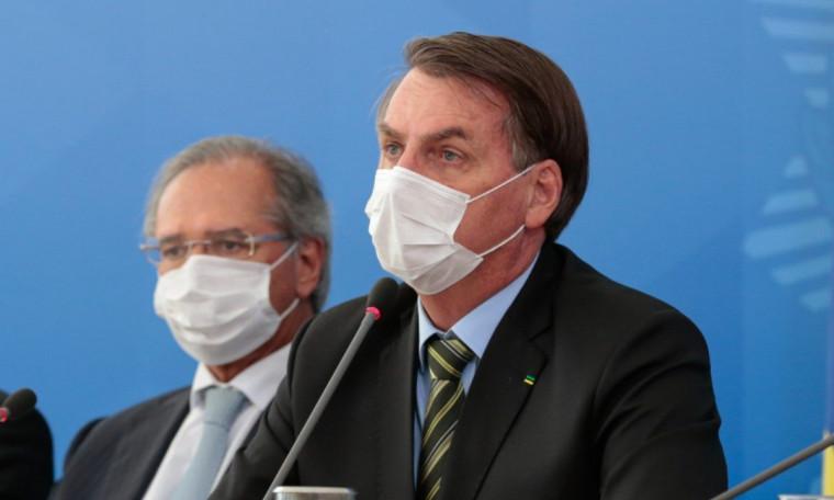 Presidente Jair Bolsonaro e ministro da Economia, Paulo Guedes