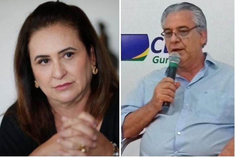 Senadora Kátia Abreu e ex-secretário César Simoni
