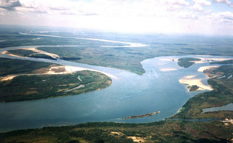 Encontro das aguas Tocantins e Araguaia
