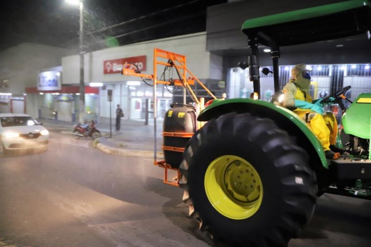 Desinfecção no centro de Araguaína