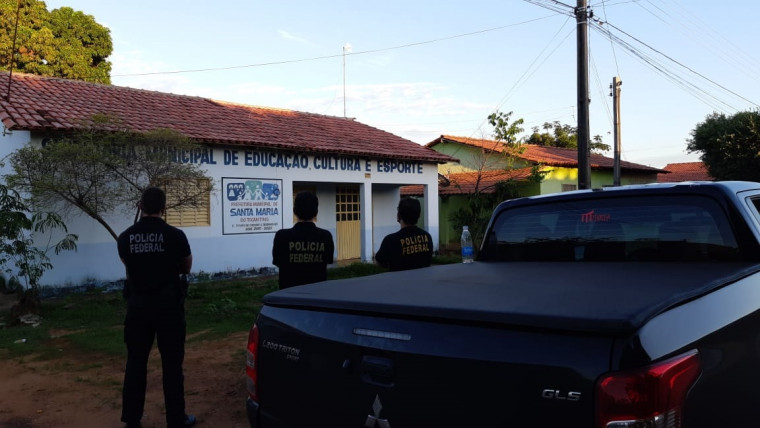 PF cumprindo mandado em Santa Maria do Tocantins