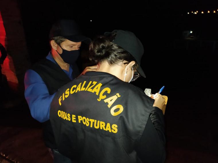 Foram nove autuações e duas notificações na região sul da capital