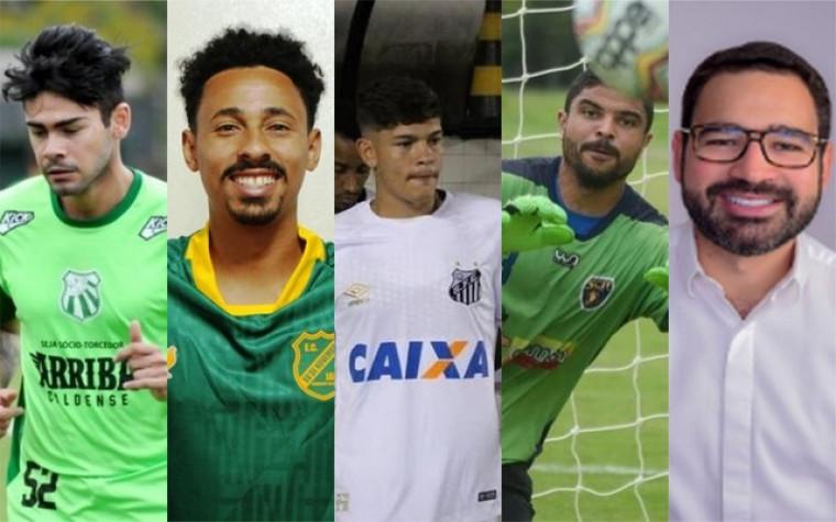 Jogadores e presidente do Palmas Futebol e Regatas