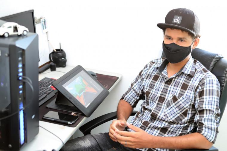 Alef Dias traz no currículo trabalhos divulgados por grandes produtoras nacionais como a Cartoon Network