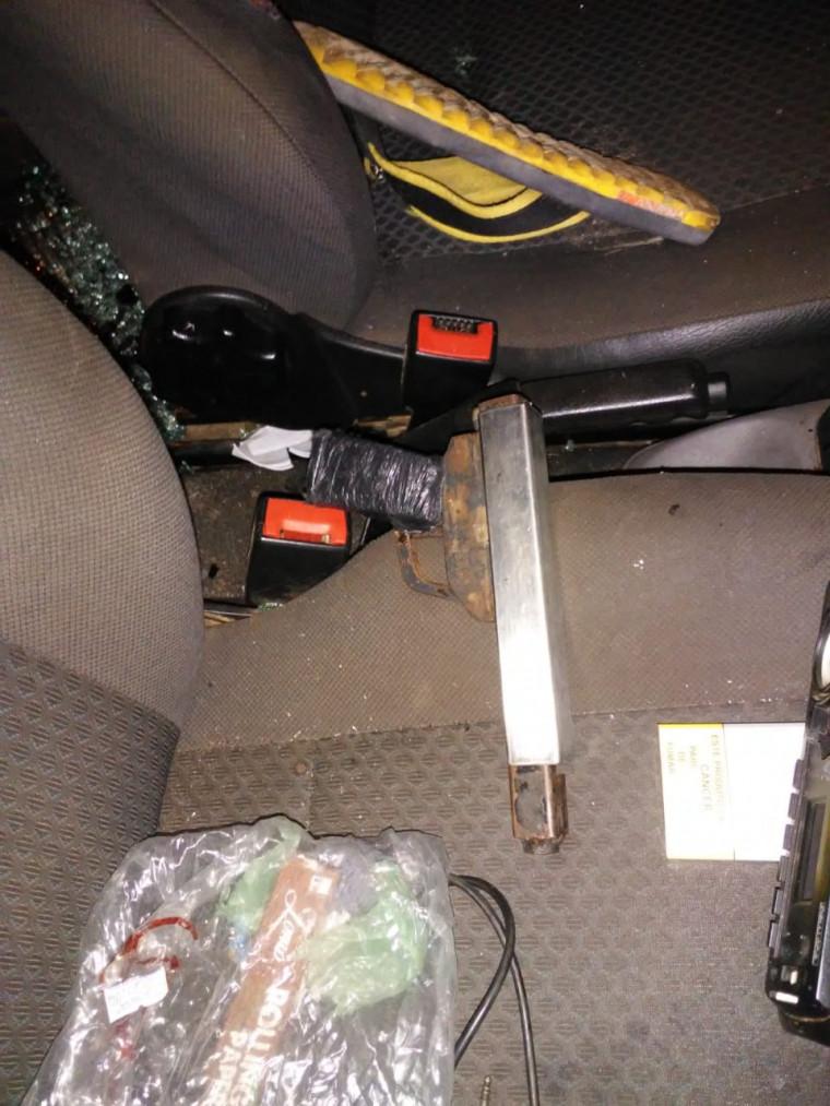 Arma de fogo usada pelos suspeitos