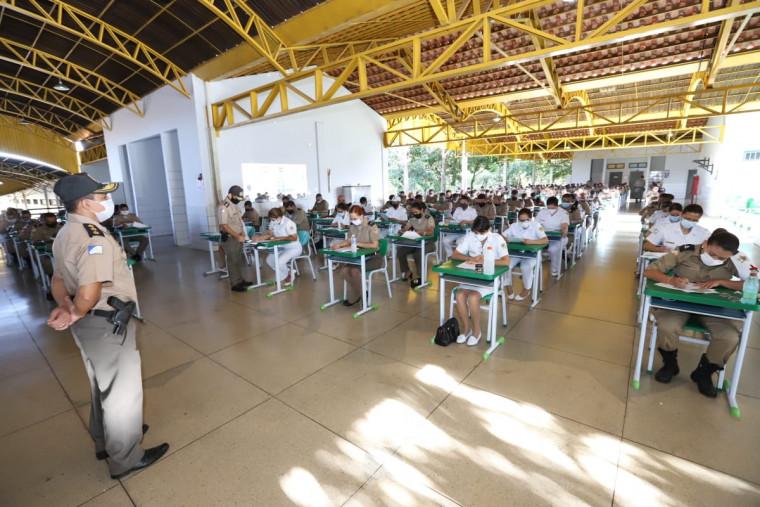 Provas foram realizadas na Academia de Polícia Militar Tiradentes, em Palmas