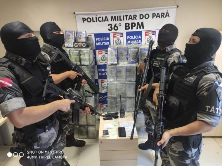 PM do Pará fez a apreensão de carregamento com 815 kg de cocaína que pertencia ao traficante preso em Araguaína