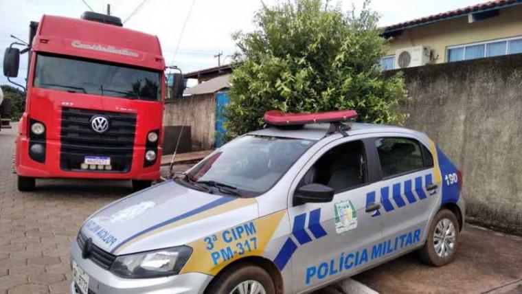 Caminhão havia sido roubado no Maranhão