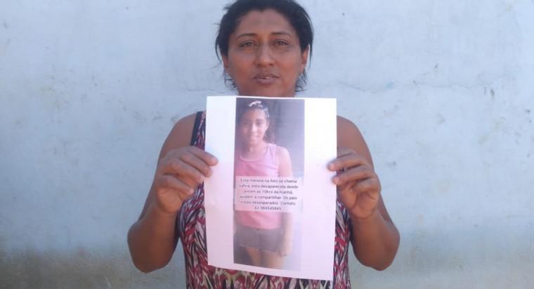 Mãe está desesperada com sumiço da filha de 10 anos