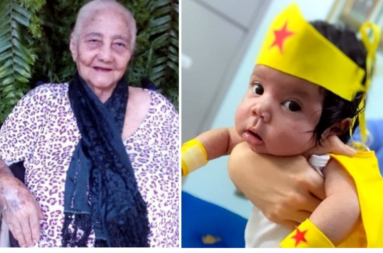 Paciente mais idosa, de 101 anos, e a mais jovem, de apenas 2 meses de vida. Elas venceram a covid-19