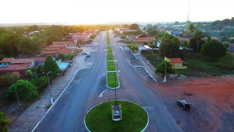 Entrada da cidade de Bandeirantes