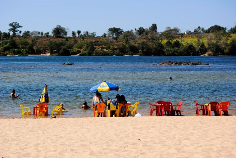 Praia da Santa, em Tocantinópolis (antes da pandemia)