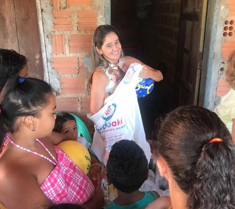 Vereadora realizou a ação em Babaçulândia e no Povoado Barro Preto